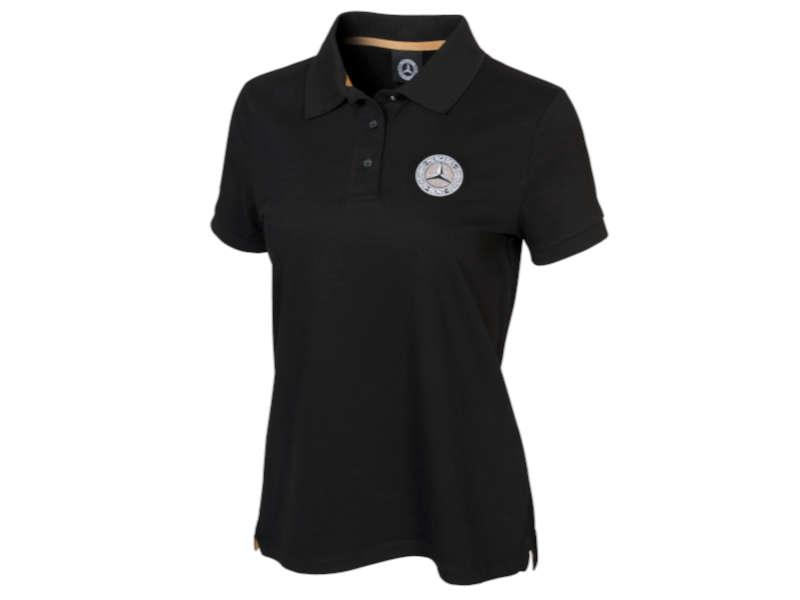 Poloshirt Damen schwarz Mercedes-Benz Classic Collection